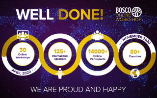 We are honored to announce that we have already held 30 Bosco Online Workshops!