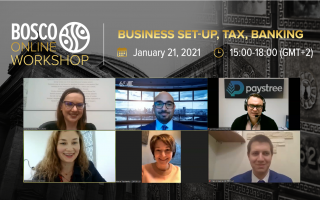 28.01.21, Bosco Online Workshop «Business Set-up, Tax, Banking»: overview