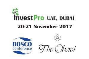 Bosco Сonference проведет конференцию InvestPro OAE, Дубай 2017 в Oberoi Hotels & Resorts Dubai.
